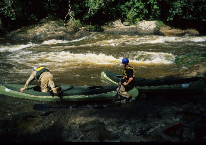 Embarking for the next run in white water - Rio Merevari.