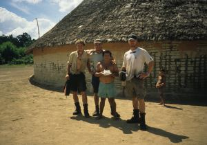 VISITING A NATIVE VILLAGE.