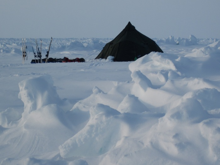 For two days the group had to stay in the same campspot because of strong wind.