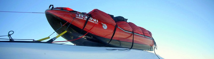 The sled for the long journeys. Acapulka Antarctica.