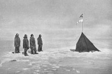 """""""Long Jacket Club"""" at South Pole in 1911."""