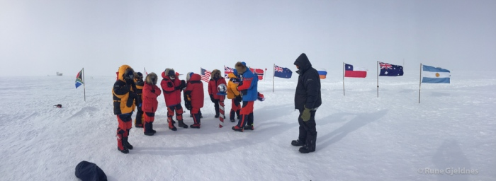 Celebration at the South Pole ceremonial
