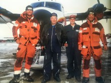 Picked up and back in Resolute Bay. With the legendary pilot Carl, First Air.
