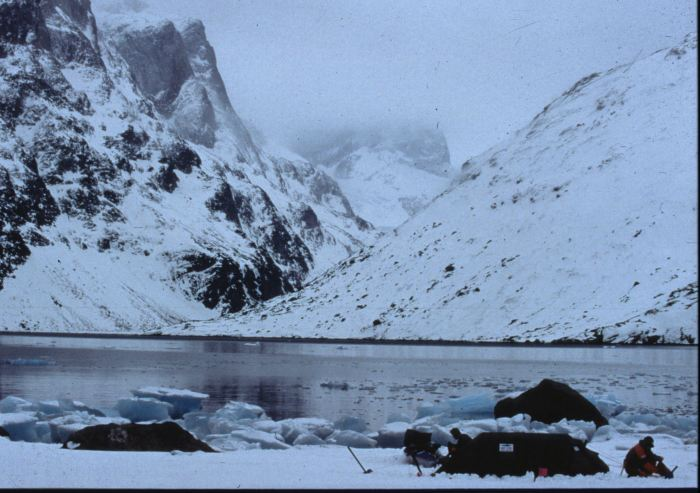 One of the camp spot´s in the fjord system South Greenland.